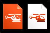Helicóptero no set de papel — Vetor de Stock