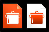 Pot on Paper Set — Stock Vector