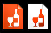 Wine on Paper Set — Stock Vector