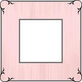 Pink Frame design — Stock Vector