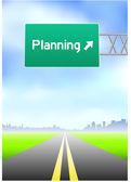 планирование шоссе знак — Cтоковый вектор