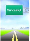 Success Highway Sign — Stock Vector
