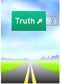 Znak autostrady prawdy — Wektor stockowy