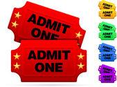Classic movie tickets — Stock Vector