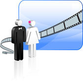 Wedding video background — Stock Vector