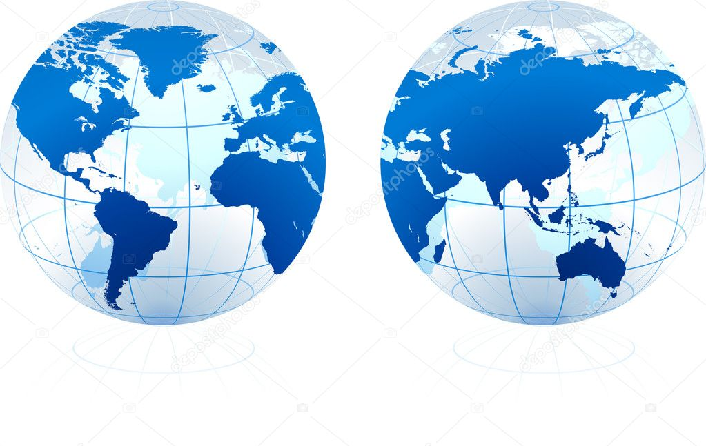 Translucent Glass Globe  Stock Vector #6087366