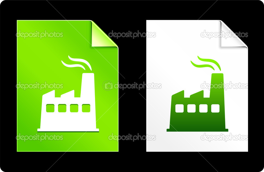 Factory on Paper SetOriginal Vector IllustrationAI 8 Compatible File  Stock Vector #6087687