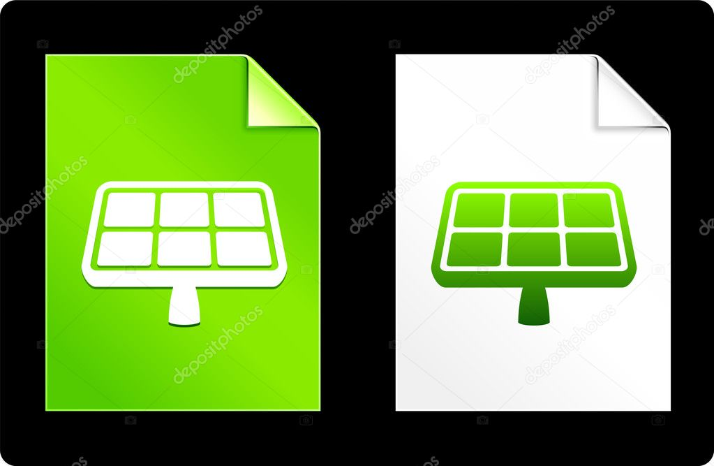 Solar Panel on Paper SetOriginal Vector IllustrationAI 8 Compatible File  Stock Vector #6087710