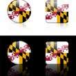 Maryland Flag Icon on Internet Button — Vector de stock