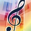 Musical Notes on Abstract Background — Stock Vector