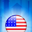 Royalty-Free Stock Vector Image: United States Flag Icon on Internet Button