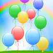 Royalty-Free Stock Vector: Balloons On Internet Background