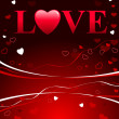 Royalty-Free Stock Vectorielle: Valentine\'s Day Love Background