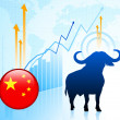 Bull Market with Chinese Internet Button — Stock Vector