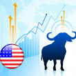Stock Vector: United States Bull Market