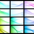 Abstract Color Background Set — Stock Vector