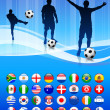 Royalty-Free Stock Vector Image: Soccer Team on Abstract Blue Background