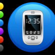 Organizer icon on round internet button - Stockvectorbeeld