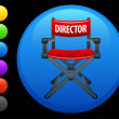 Director chair icon on round internet button -  