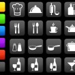 Royalty-Free Stock Vector Image: Cooking items internet icon collection