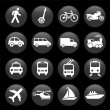 Transportation icons design elements — Stock Vector #6506784