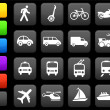 Transportation icons design elements — Stock Vector #6506786