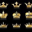 Stock Vector: Crown design collection
