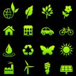 Royalty-Free Stock Imagen vectorial: Environment elements icon set