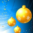 Yellow ornament decoration on abstract background - Stockvectorbeeld