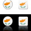 Cyprus Flag Buttons on White and Black Background — Stock vektor