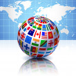 Royalty-Free Stock Vector Image: Flags Globe with World Map