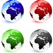 Stock Vector: Globe Set