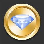 elmas altın internet düğmesini — Stok Vektör
