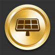Royalty-Free Stock Vector Image: Solar Panel on Golden Internet Button