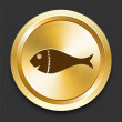 Royalty-Free Stock Vector Image: Fish on Golden Internet Button