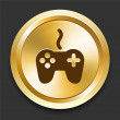 Royalty-Free Stock Vector Image: Game Controller on Golden Internet Button