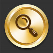 Royalty-Free Stock Imagen vectorial: Magnifying Glass on Golden Internet Button