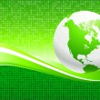 Globe on Green Environmental Conservation Background - Vettoriali Stock