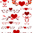 Valentine's Day Heart Design Collection — Stock Vector #6508133