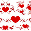 Valentine's Day Heart Design Collection — Imagen vectorial