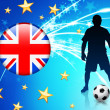 Stock Vector: British Soccer Player on Abstract Light Background