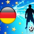 Germany Soccer Player on Light Background — Stockvectorbeeld