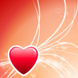 Valentine's Day Heart on Abstract Light Background — Vettoriali Stock