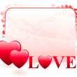 Vector de stock : Valentine's Day Love Background