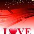 Valentine&#039;s Day Love Background - Stock Vector