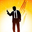 Business man showing a middle finger — Stock Vector #6509203