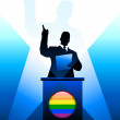 Royalty-Free Stock Vector Image: Gay Leader Giving Speech on Stage