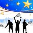 Stock Vector: United States Tennis Team