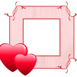 Valentine&#039;s Day Love Frame - Stock Vector