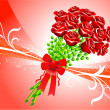 Royalty-Free Stock Vector Image: Roses on Red Background